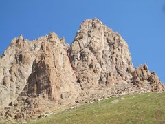 Rock Climbing Photo: Does anyone know if this is the rap route line (an...