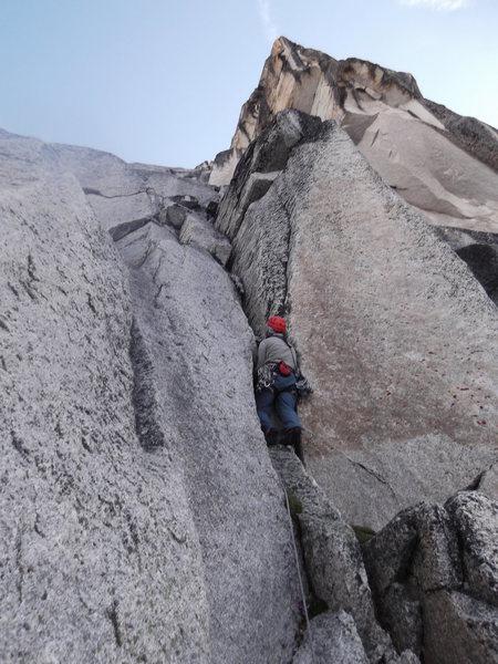 Rock Climbing Photo: Ben Collett on P1.