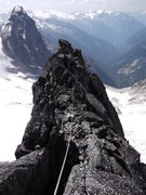 Rock Climbing Photo: Looking back along the first section of the ridge ...