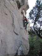 Rock Climbing Photo: I tried and pulled a muscle... and so must try aga...