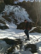 Rock Climbing Photo: Ice Climbing on a prefect sunny day in VT