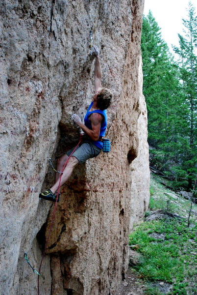 Rock Climbing Photo: Right in the midst of the bouldery section.