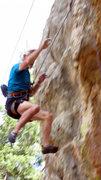 Rock Climbing Photo: Jim is airborne!