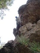 Rock Climbing Photo: Aleix at the roof