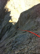 Rock Climbing Photo: The upper section of pitch 1