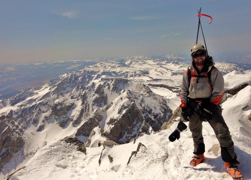 Rock Climbing Photo: About to ski the Ford/Stettner route on the Grand ...