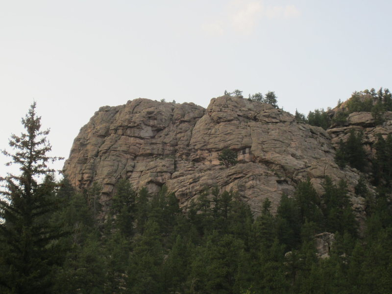 Left hand side of Springer Gulch Wall.