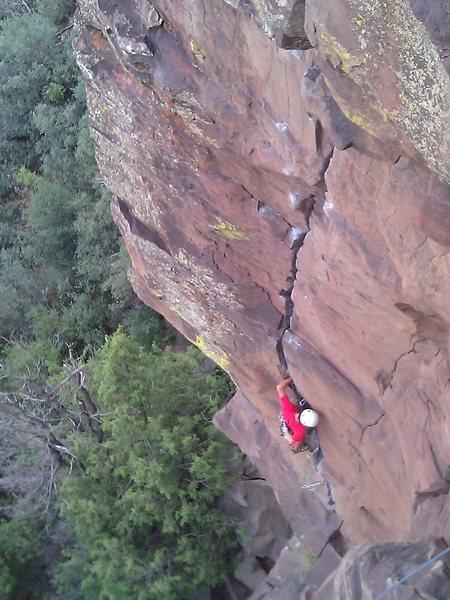 Rock Climbing Photo: Joel Benitez on Isaiah