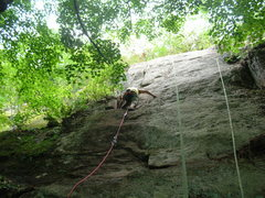 Rock Climbing Photo: Approaching the rest ledge at mid-height.  As if y...