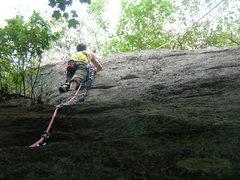 Rock Climbing Photo: The upper crack.