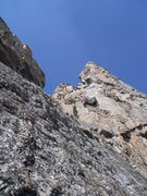 Rock Climbing Photo: The buttress is foreshortened in the upper part of...