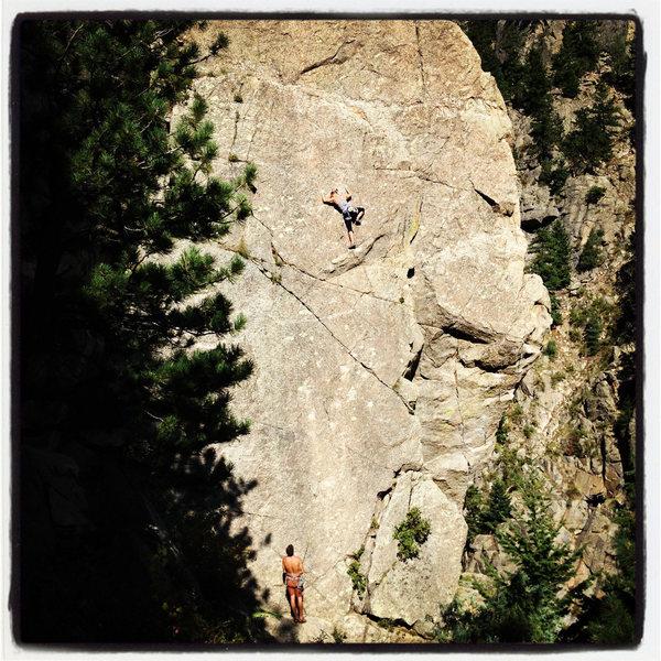 Rock Climbing Photo: Slabbing up The Scientist