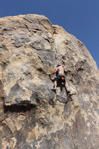 Fun lead climb to warm up on