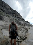 Rock Climbing Photo: The start of the easy walk up to the first belay s...