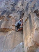 Rock Climbing Photo: Lee Rittenmeyer leading Sign of Abundance.  Photo ...