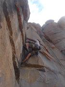 Rock Climbing Photo: Logan Berndt pulling the crux of Tribal Wisdom.