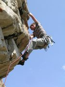 Rock Climbing Photo: Charles Z on Tipping the Vessel of Knowledge