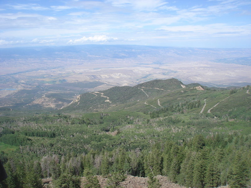 Rock Climbing Photo: Looking down into the valley from Beyond Civilizat...
