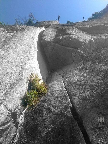 "Rock Climbing Photo: P5 looks intimidating for ""5.9+"".  Photo..."