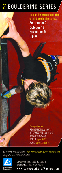 The Bouldering Series Flyer