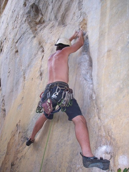Rock Climbing Photo: Eric Coffman boulder start 10 feet up 2 finger cri...