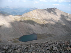 Rock Climbing Photo: Father Dyer Peak - Summit view of Breckenridge Pea...