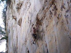 "Rock Climbing Photo: Eric Coffman 6 ft 4 200 lbs leading ""itchy fl..."