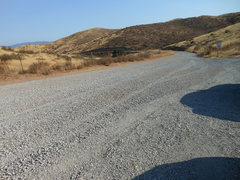 Rock Climbing Photo: A new layer of crushed gravel on Rush Canyon Road ...