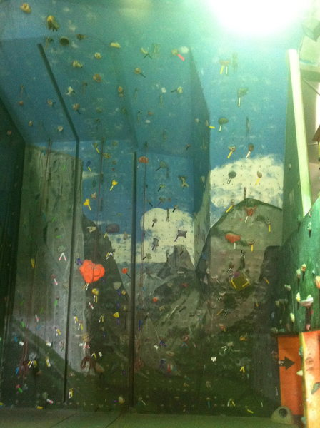 The back wall.  Lead climbing.