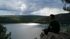 Rock Climbing Photo: Watching the clouds roll in