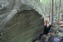 Rock Climbing Photo: Matt Tshippert doing Croc Hunter V6 second go.