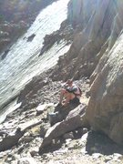 Rock Climbing Photo: Looking back at Lamb's shortly after entering Broa...