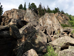Rock Climbing Photo: Reese's Pieces from the talus field on the approac...