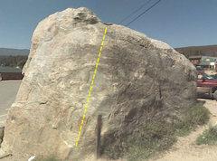 Rock Climbing Photo: The boulder.