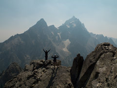 Rock Climbing Photo: Me and my brother finishing the SW Ridge of Symmet...