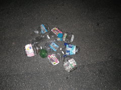 Rock Climbing Photo: Some of the trash we carried down from the route. ...