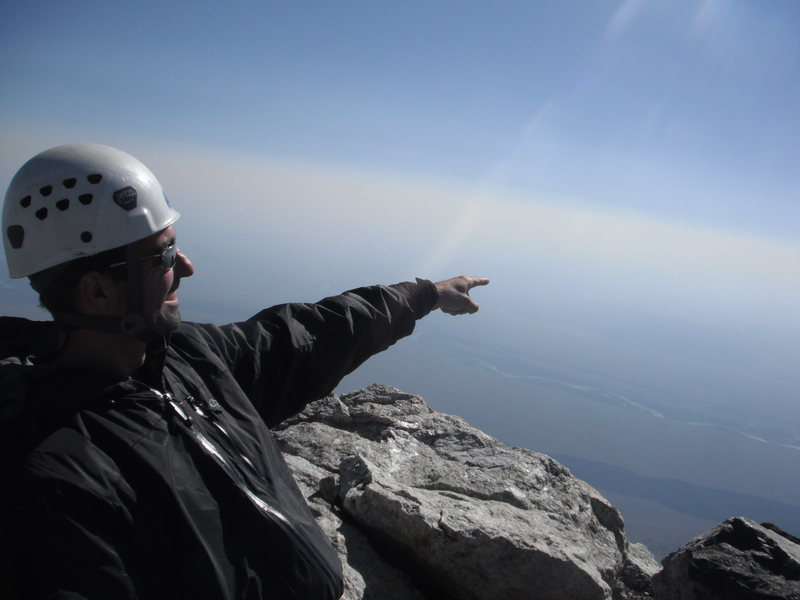 Rock Climbing Photo: Grand Teton Summit.  Looking at something importan...