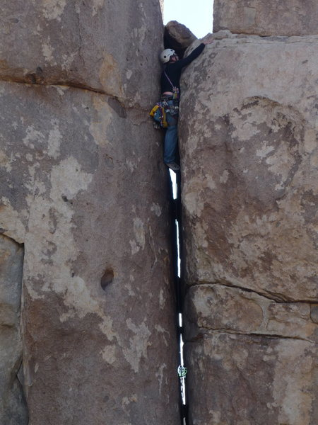 Rock Climbing Photo: Runout on a tipped six
