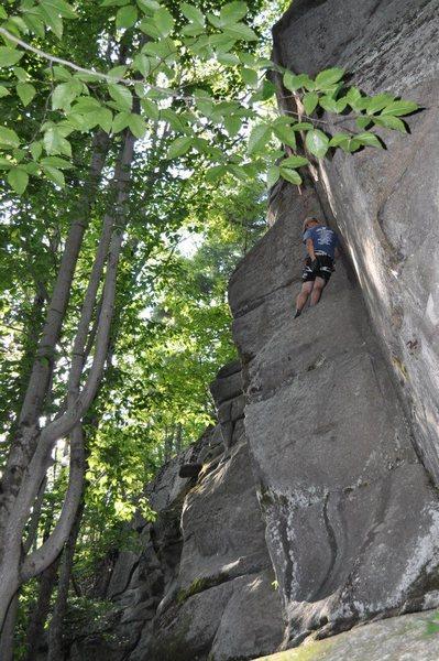 Rock Climbing Photo: Jay following