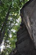 Rock Climbing Photo: Jay pulling the bulge