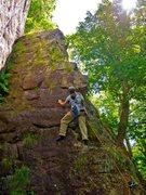 Rock Climbing Photo: Maggie Leading