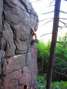 Rock Climbing Photo: Close to the crux
