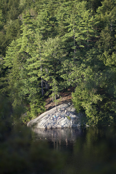 Rock Climbing Photo: The Stonehouse Pond swimming hole.