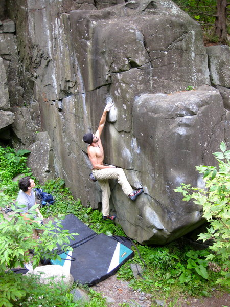 Rock Climbing Photo: Beta: The first move