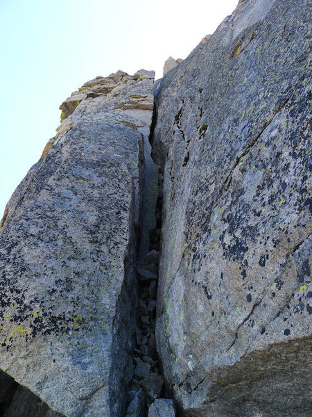 Rock Climbing Photo: This was the crux for me, mostly b/c the rock up t...