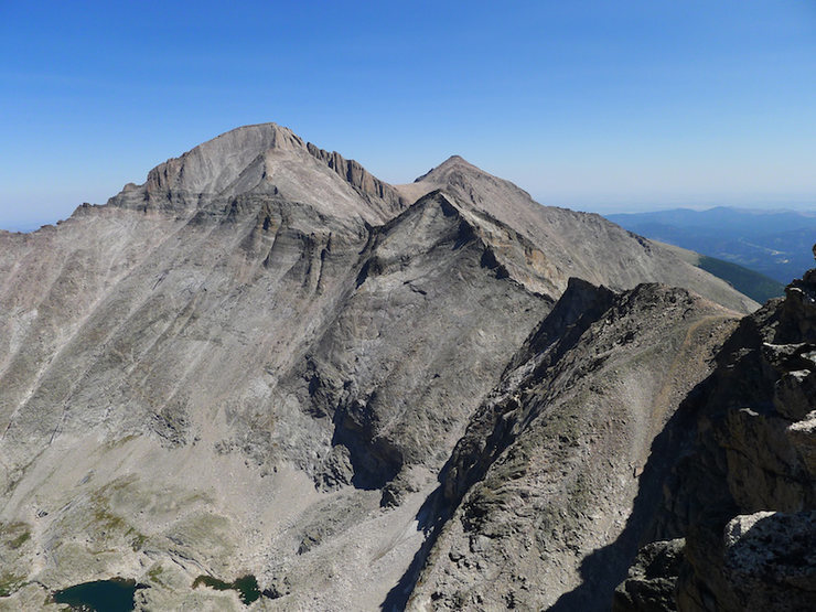 Long's and Pagoda from the summit.