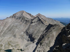 Rock Climbing Photo: Long's and Pagoda from the summit.