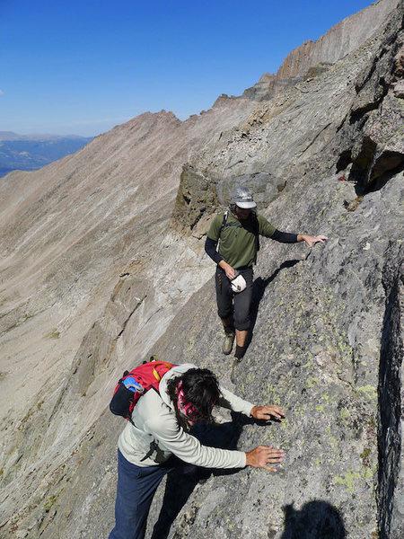Rock Climbing Photo: Will and Adam navigate the slabs on the W Ridge.