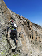 Rock Climbing Photo: Passing one of the gendarmes.