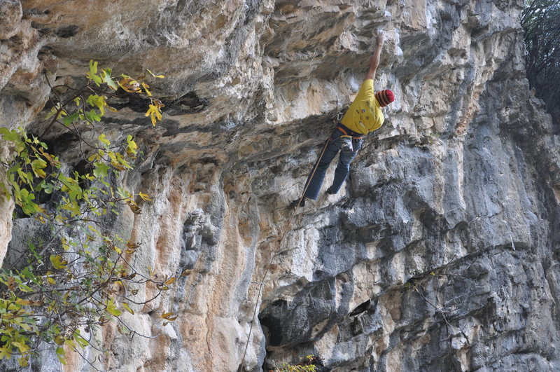 "Rock Climbing Photo: ""Narita"" Albenga 8a (about 5.13b)"